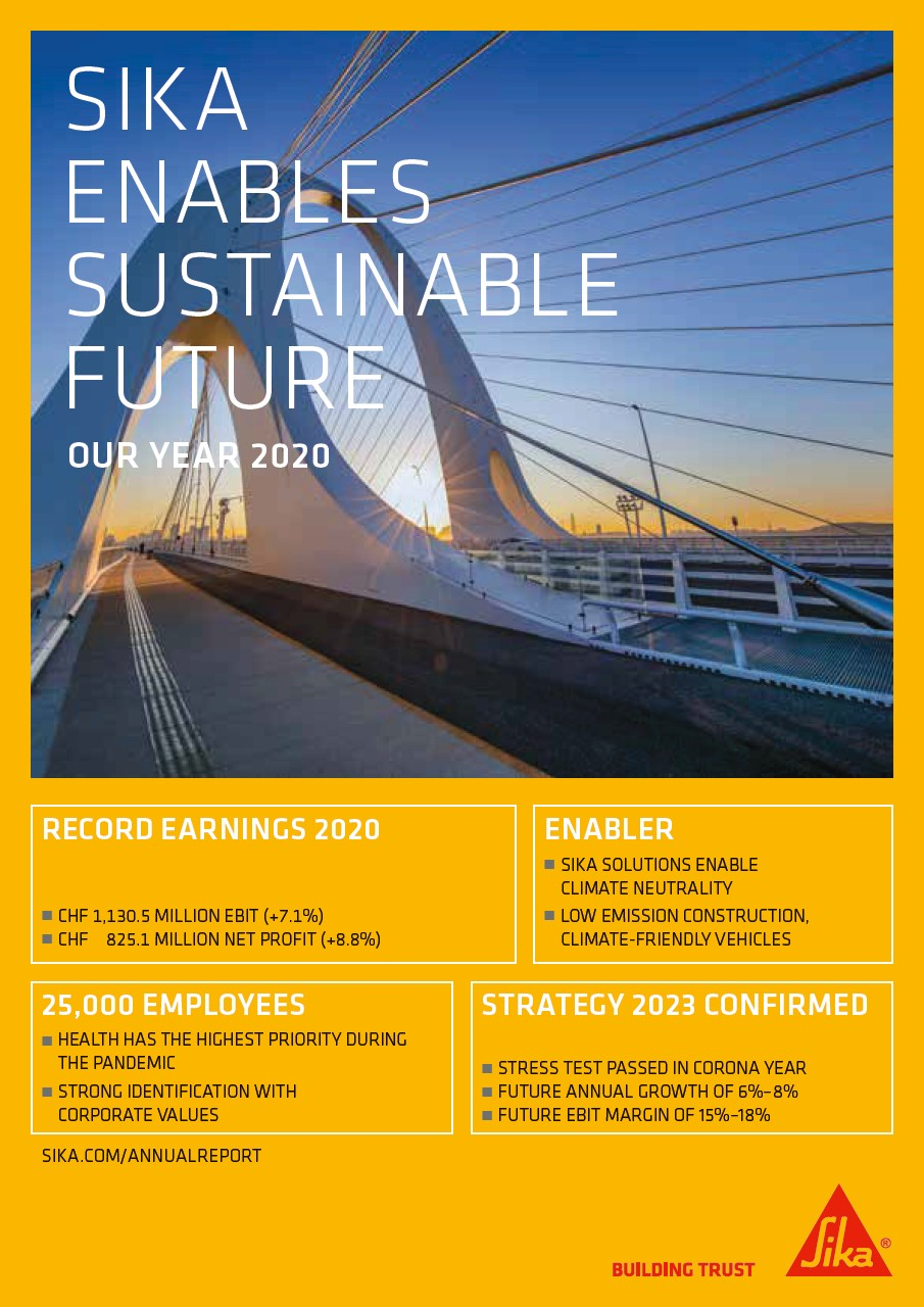 Sika Enables Sustainable Future - Our Year 2020
